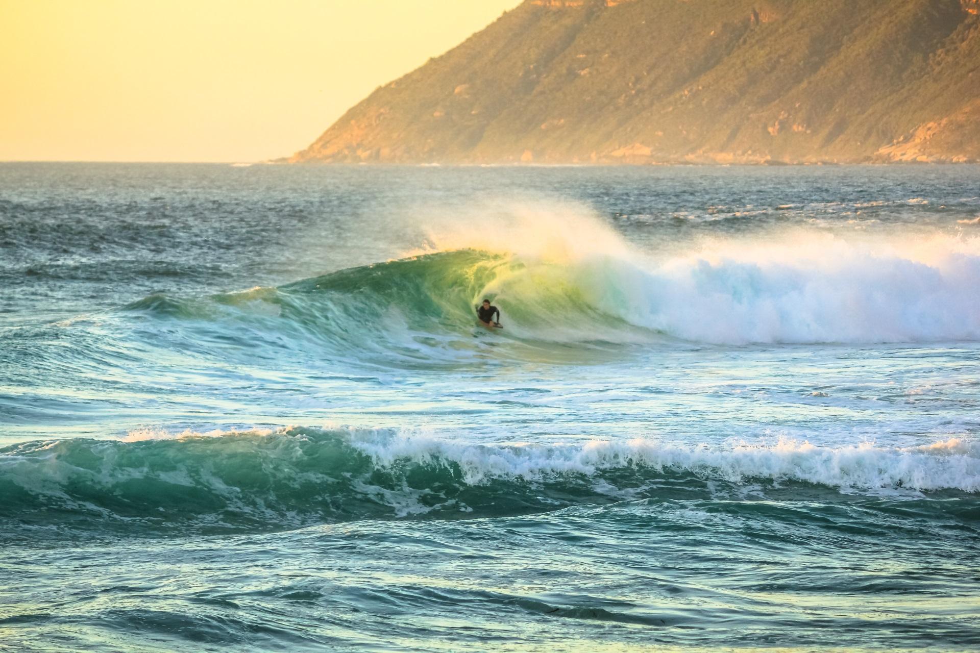 Surfen in Südafrika.
