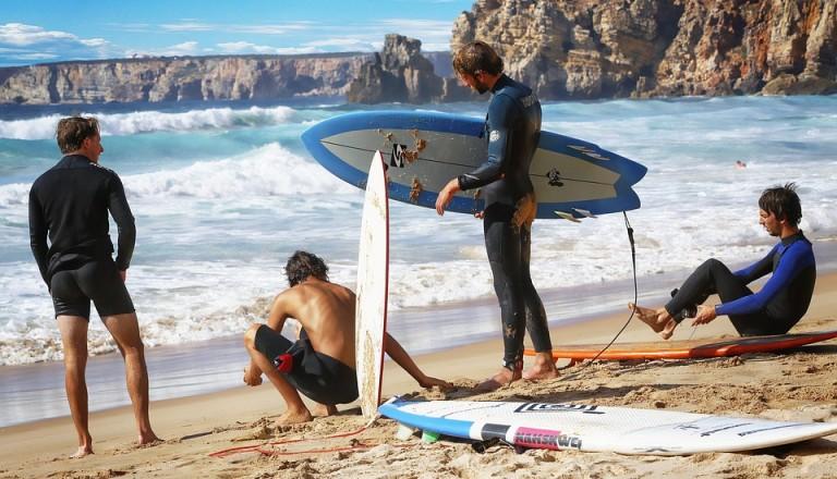 Surfen in Portugal Nazare