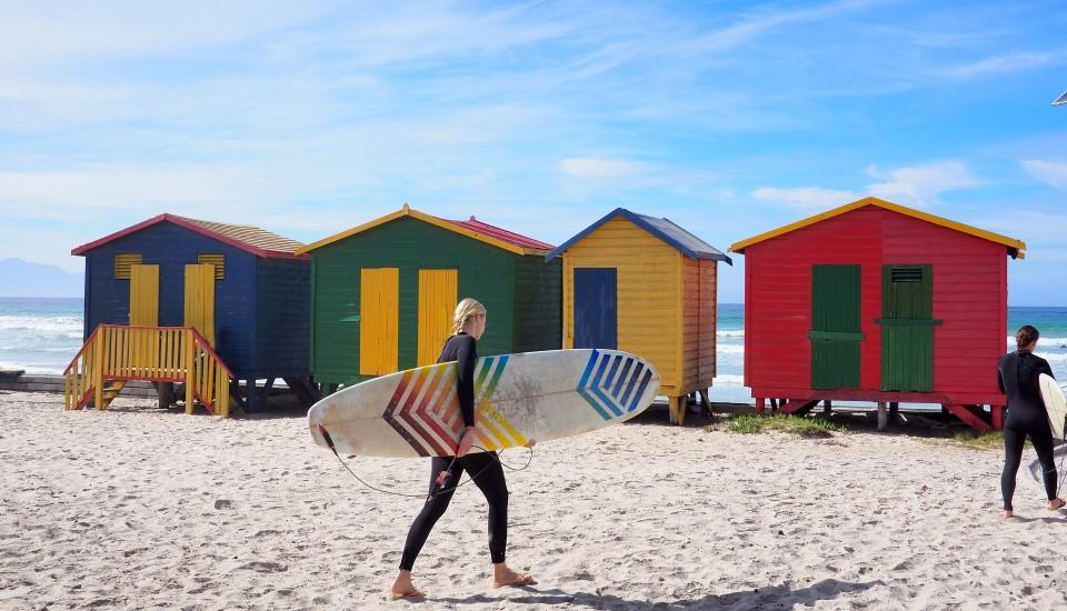 Surfurlaub Südafrika Muizenberg Beach