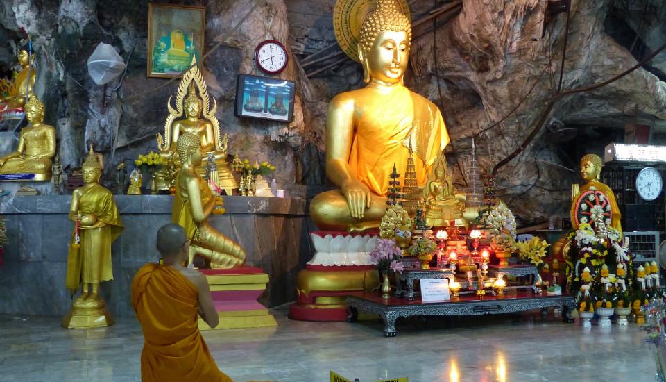 Der Tiger Cave Tempel bei Krabi Noi