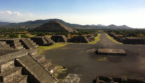 Die Teotihuacán Pyramidenanlage in Mexiko