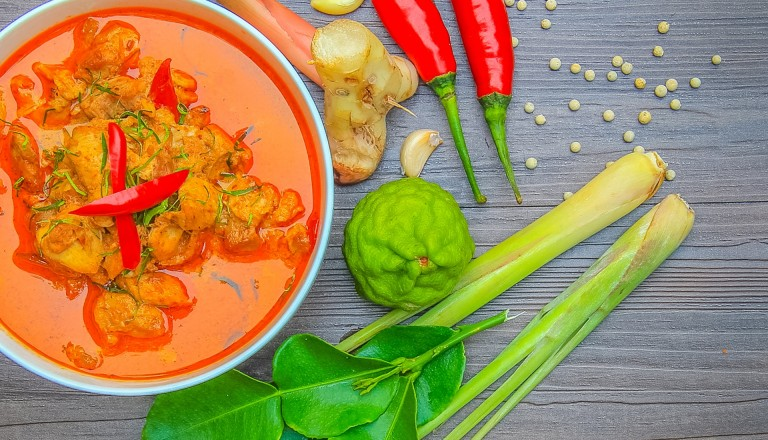 Essen auf Reisen Rotes Thaicurry
