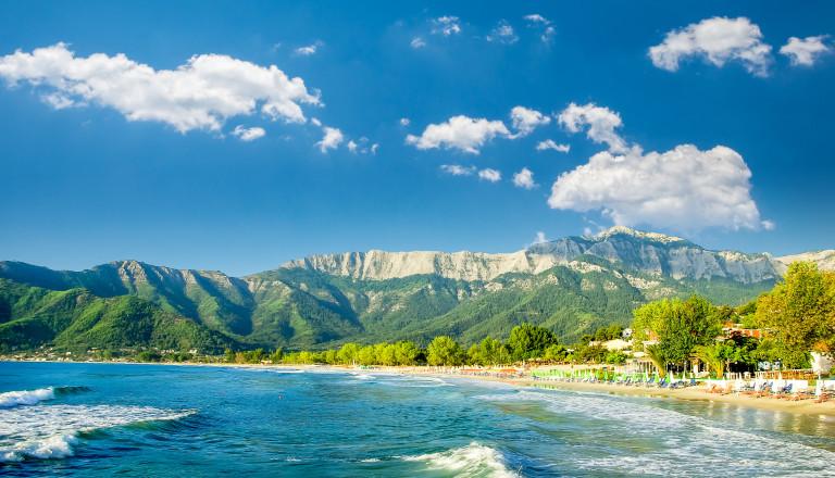 Golden Beach auf Thassos