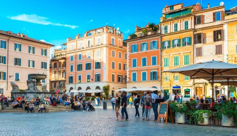 Das malerische Stadtviertel Trastevere.