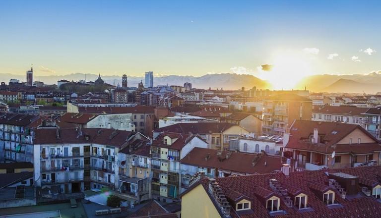 Turin Sonnenuntergang Berge