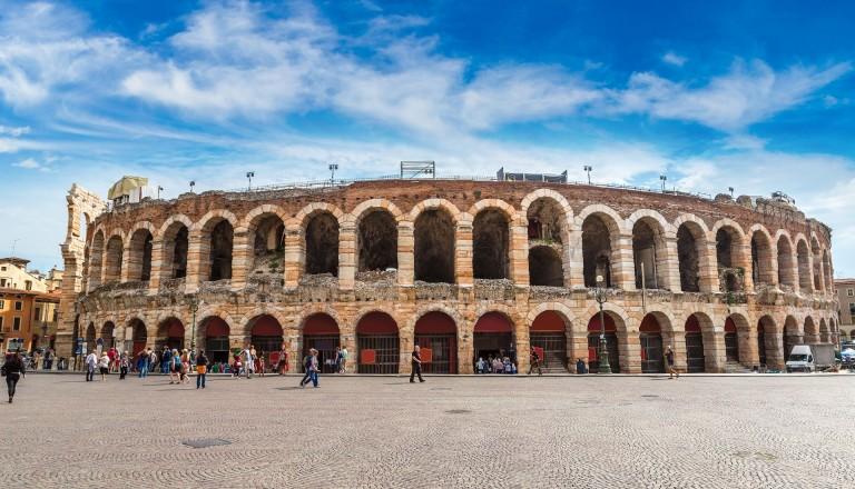 Das Amphitheater von Verona.
