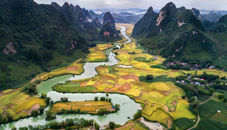 Atemberaubende Landschaften warten auf Sie in Vietnam!