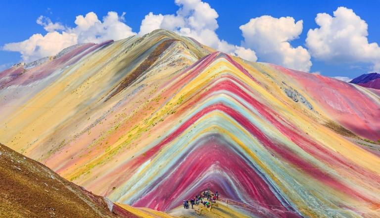 Vincunca - der Regenbogenberg bei Cusco.