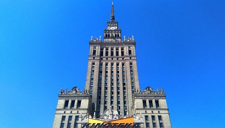 Warschau Kulturpalast. Sädtereisen