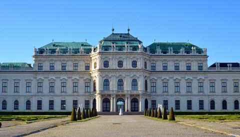 Das Schloß Belvedere in Wien