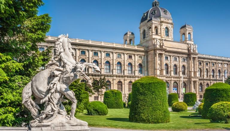 Das Naturhistorische Museum in Wien.