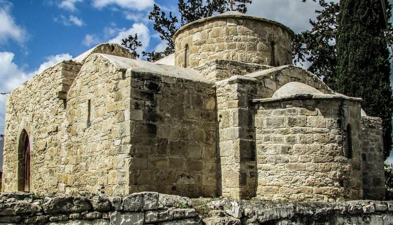 Die Kirche der mittelalterlichen Festung Kolossi auf Zypern