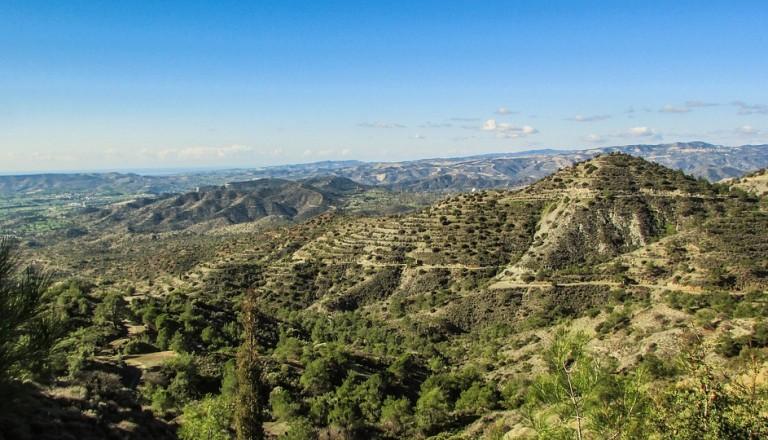 Das Troodos Gebirge auf Zypern. Nikosia.