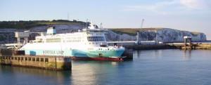 Die Fähre von Calais nach Dover