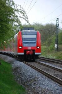 Auf der Fahrt mit der Bahn durch Deutschland