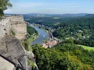 Die Elbe in der Säschischen Schweiz