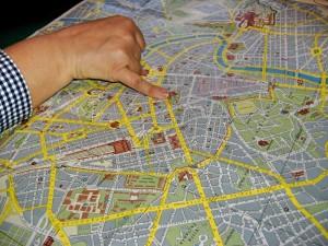 Routenplanung mit Hilfe einer Landkarte