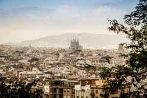 Panoramablick über die katalanische Metropole Barcelona