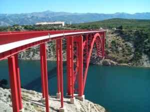 Die Maslenica-Brücke auf der Adria Magistrale