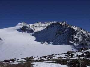 Schneebedeckte Gipfel in den Ötztaler Alpen