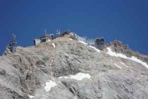 Die Bergstation auf der Zugspitze, Deutschlands höchstem Berg