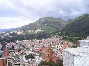 Blick auf Bogota, die Hauptstadt Kolumbiens
