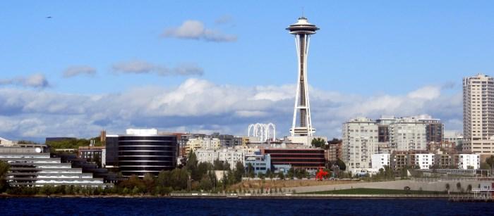 Die Skyline von Seattle, Washington mit dem berühmten Space Needle