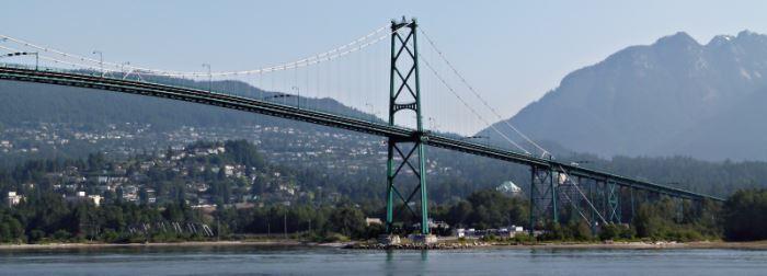 Die Lions Gate Bridge in Vancouver