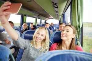 Selfie im Fernbus
