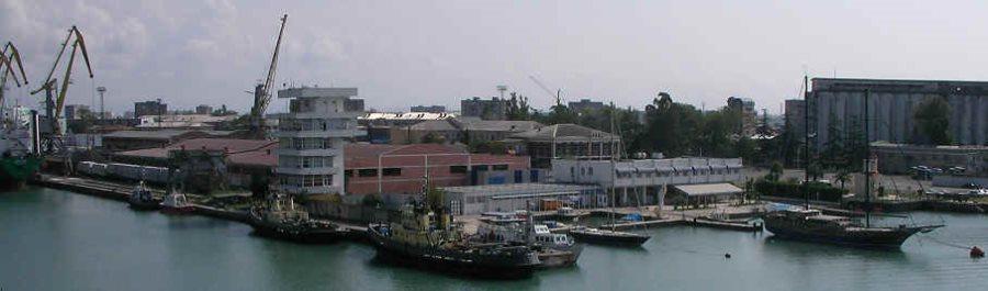 Hafen von Poti in Georgien