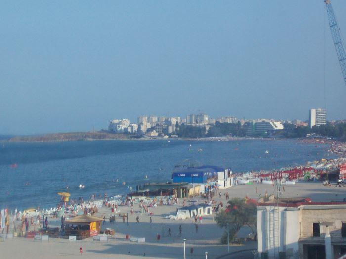 Blick über den Strand von Mamaia in Rumänien