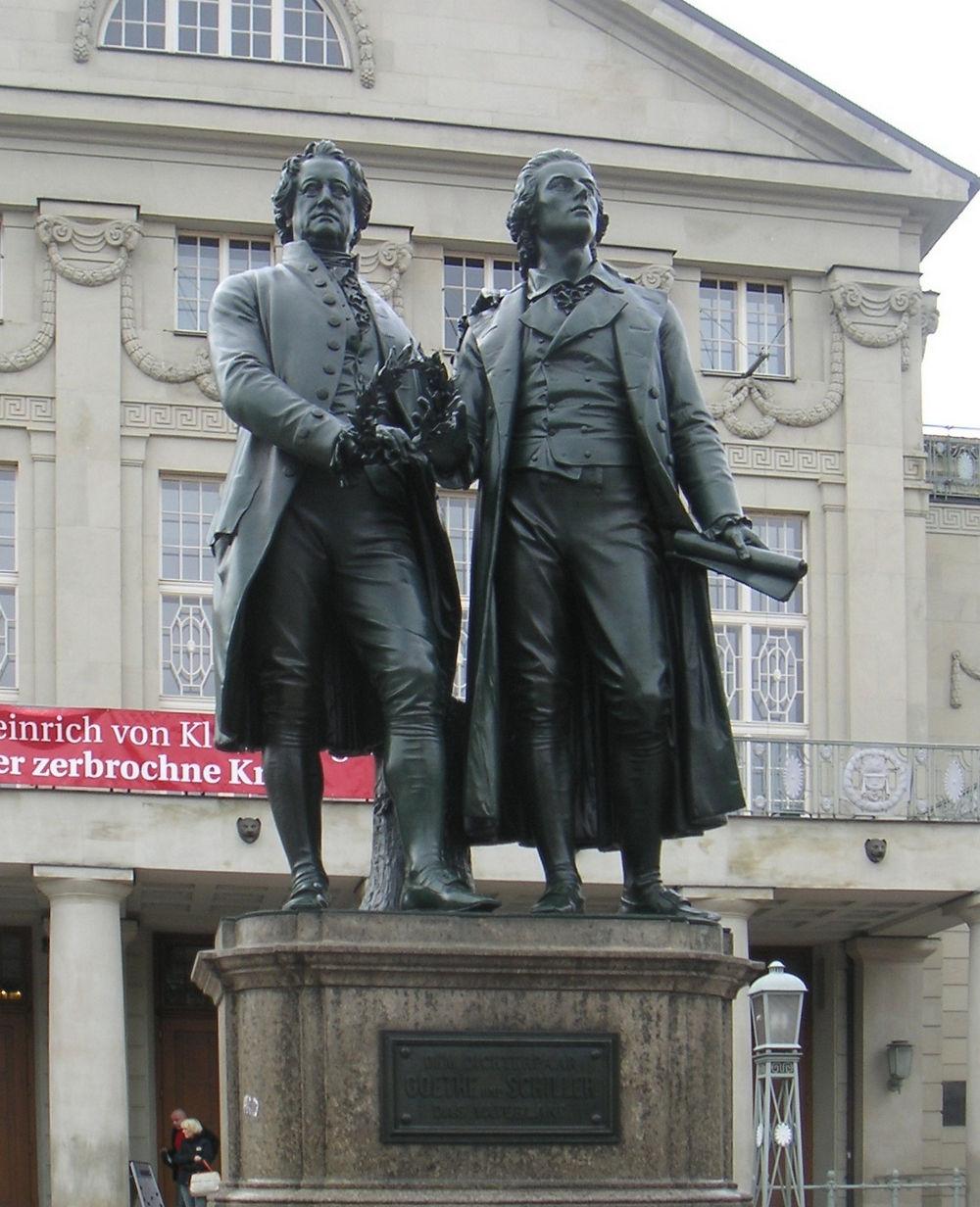 Goethe Schiller Denkmal Weimar