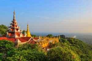 Mandalay Hill in Myanmar
