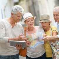 Seniorengruppe auf Reisen