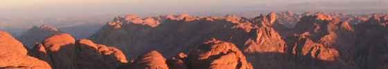 Blick auf das Sinai-Gebirge