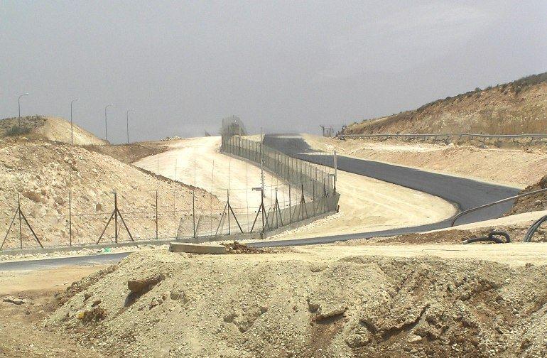 Grenzzaun im Westjordanland
