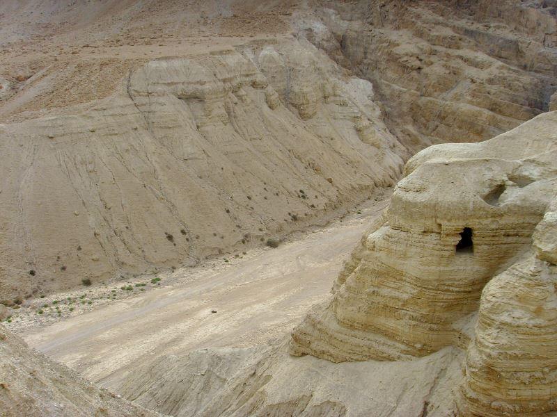 In der Region von Qumran gibt es viele Höhlen