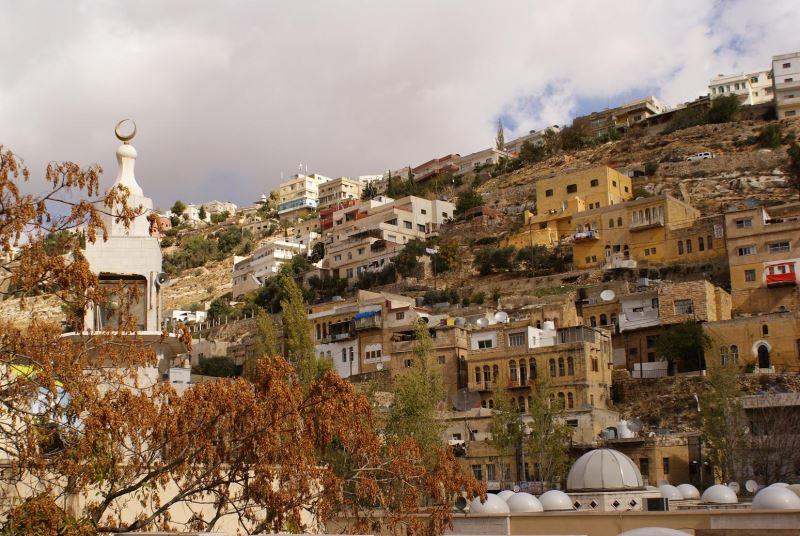 Die Stadt As Salt in Jordanien