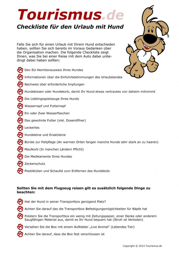 Checkliste für den Urlaub mit Hund