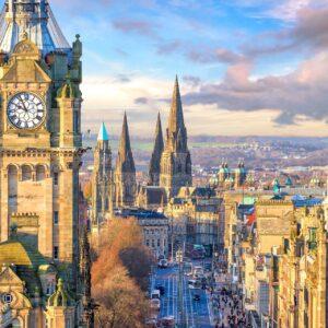 Ein Blick auf die Altstadt von Edinburgh