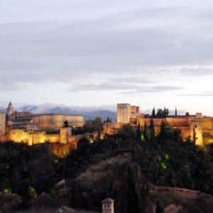 Burggelaende, Granada, Andalusien