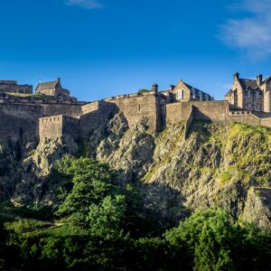 Das imposante Edinburgh Castle