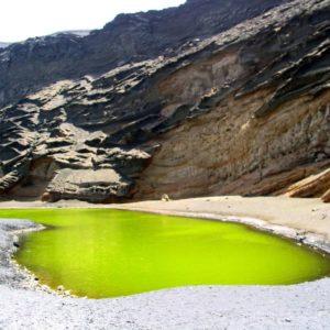 Grüne Lagune, Lanzarote, Spanien
