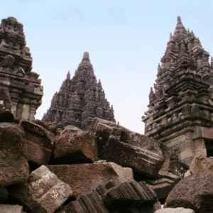 Hinduistic Prambanan Temple, Indonesien