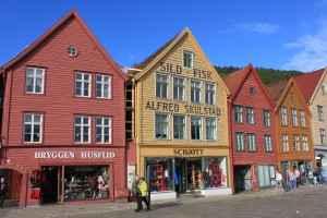 Bunte Häuser in Norwegen