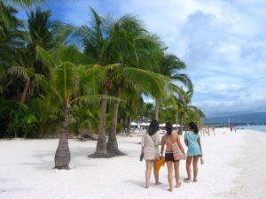 Strand und Palmen, Boracay, Philippinen