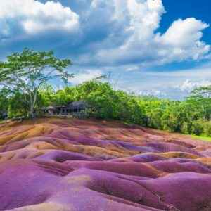 Siebenfarbige Erde in Chamarel, Mauritius
