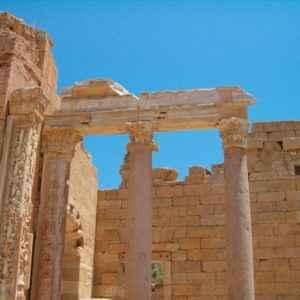 Antike Säulen, Leptis Magna, Libyen