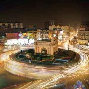 Bahadurabad Kreisel in Karachi
