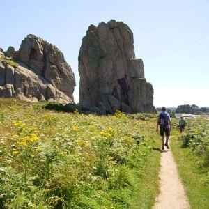 Felsen, Bretagne, Frankreich